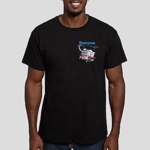 Nurses Are Not Slaves! Men's Fitted T-Shirt (dark)