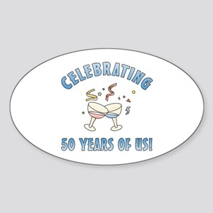 50th Anniversary Party Sticker (Oval)