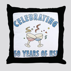 50th Anniversary Party Throw Pillow