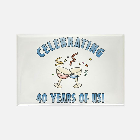 40th Anniversary Party Rectangle Magnet