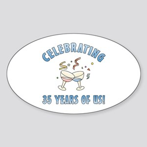35th Anniversary Party Sticker (Oval)