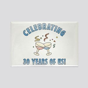 30th Anniversary Party Rectangle Magnet