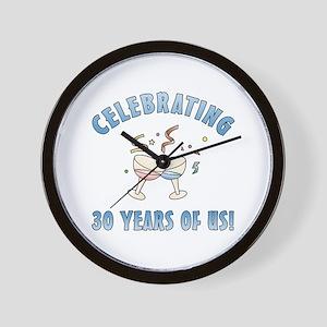 30th Anniversary Party Wall Clock
