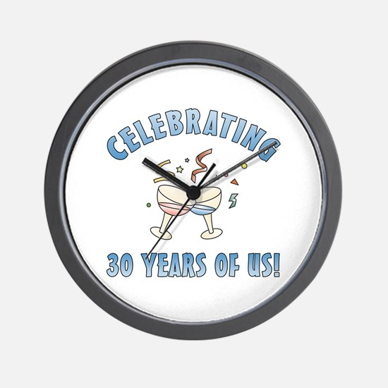 30th Anniversary Party Wall Clock