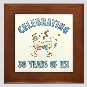 30th Anniversary Party Framed Tile
