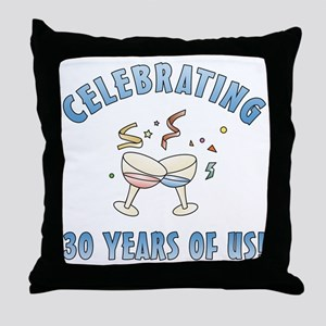 30th Anniversary Party Throw Pillow