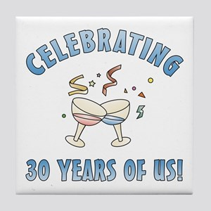 30th Anniversary Party Tile Coaster