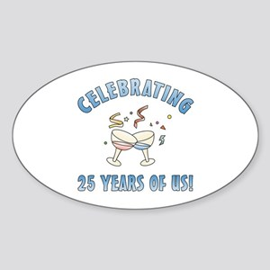 25th Anniversary Party Sticker (Oval)