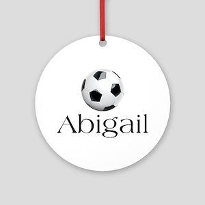 Abigail Soccer Ornament (Round)