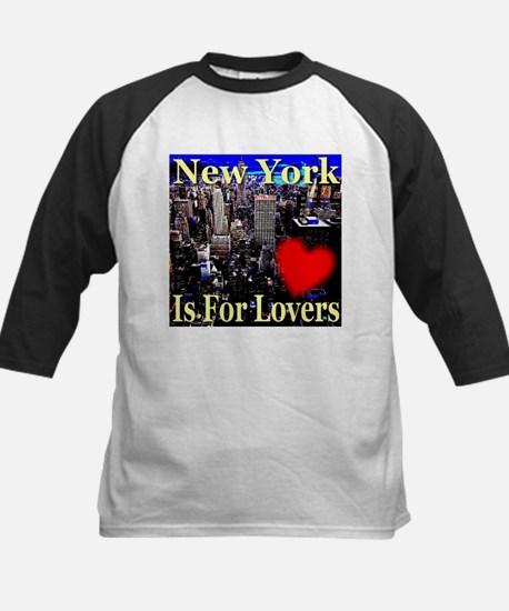 New York Is For Lovers Kids Baseball Jersey