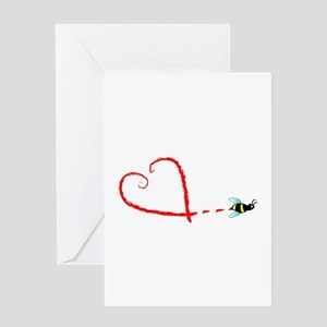 Love Bee Greeting Card