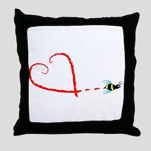 Love Bee Throw Pillow