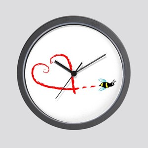 Love Bee Wall Clock