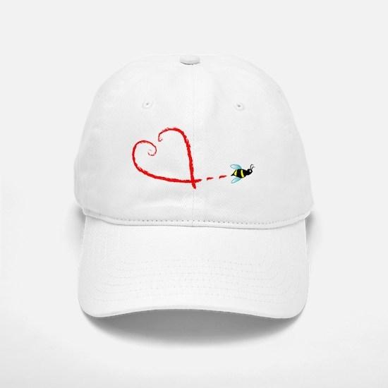 Love Bee Baseball Baseball Cap