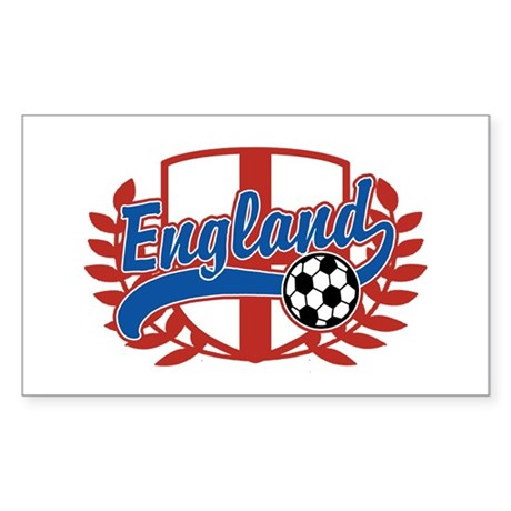 England Soccer Sticker (Rectangle)