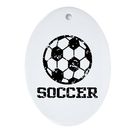 Soccer Ornament (Oval)