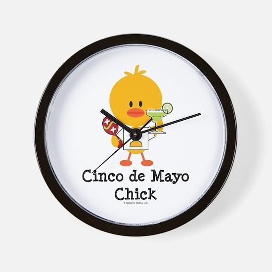 Cinco de Mayo Chick Wall Clock