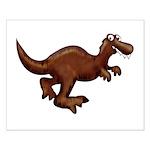 Running Dinosaur Small Poster
