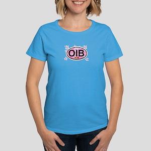 Ocean Isle Beach NC - Oval Design Women's Dark T-S