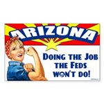 Job Feds Won't Do Sticker (Rectangle 10 pk)