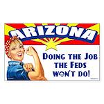 Job Feds Won't Do Sticker (Rectangle 50 pk)