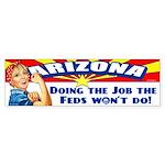 Job Feds Won't Do Sticker (Bumper)