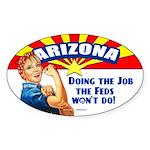 Job Feds Won't Do Sticker (Oval)