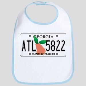 GA Peaches Bib