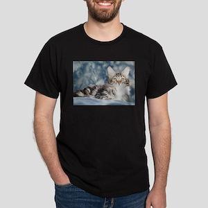 Maine Coon Tabby Black T-Shirt