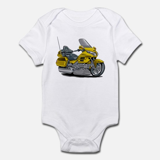 Goldwing Yellow Bike Infant Bodysuit
