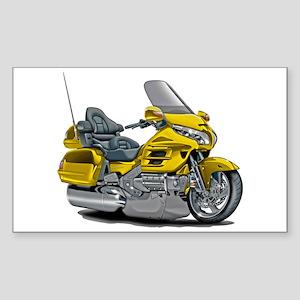 Goldwing Yellow Bike Sticker (Rectangle)