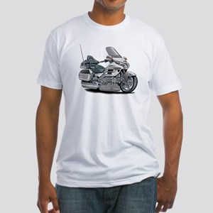 Goldwing White Bike Fitted T-Shirt
