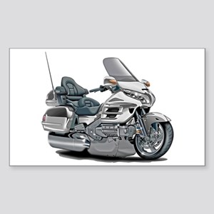 Goldwing White Bike Sticker (Rectangle)