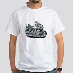 Goldwing Silver Bike White T-Shirt