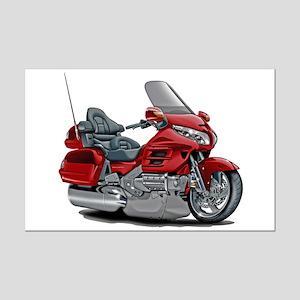 Goldwing Red Bike Mini Poster Print