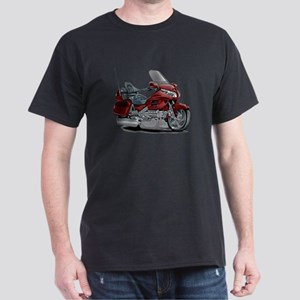 Goldwing Maroon Bike Dark T-Shirt