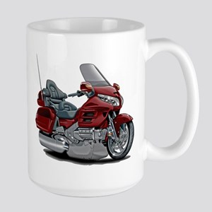Goldwing Maroon Bike Large Mug