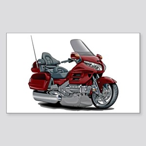 Goldwing Maroon Bike Sticker (Rectangle)