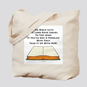 The Bible and Israel Tote Bag