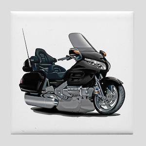 Goldwing Black Bike Tile Coaster