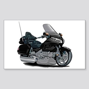 Goldwing Black Bike Sticker (Rectangle)