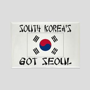 South Korea's Got Seoul! Rectangle Magnet