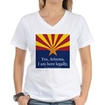 I am here legally! Women's V-Neck T-Shirt