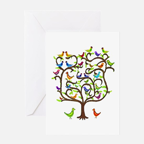 bird tree congratulations Greeting Card