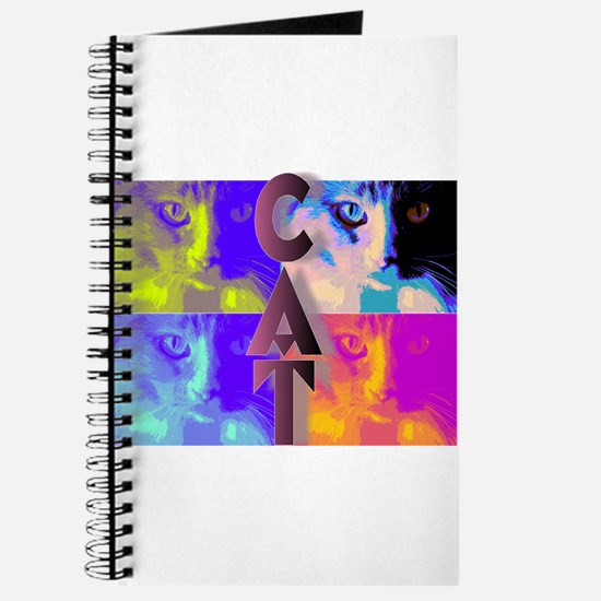 Psychedelic Cat Journal