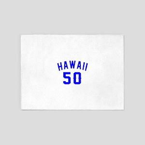 Hawaii 50 Birthday Designs 5'x7'Area Rug