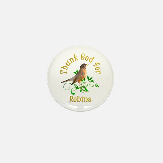 Robin Mini Button