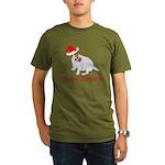 Festive JRT Christmas Organic Men's T-Shirt (dark)