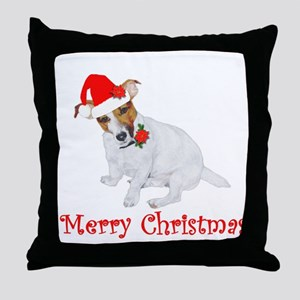 Festive JRT Christmas Throw Pillow