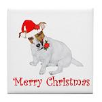 Festive JRT Christmas Tile Coaster